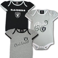 Raiders Infant Girl Body Suits (3-Pack)
