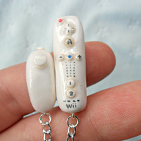 Wii Controller and Nunchuk Charm Necklace :D