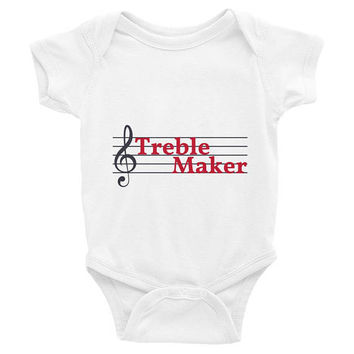 Treble Maker, music baby clothes, music baby Onesuits, music baby Onesuits, music baby shirt, trendy baby clothes, baby shower gift,