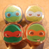 custom TMNT furniture knobs drawer pulls SET of 4