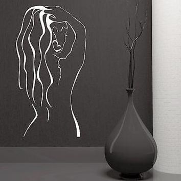 Wall Sticker Vinyl Decal Sexy Naked Woman Back Spa Massage Salon Decor Unique Gift (z1083)