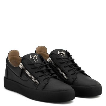 Giuseppe Zanotti Gz Frankie Black Leather Low-top Sneaker