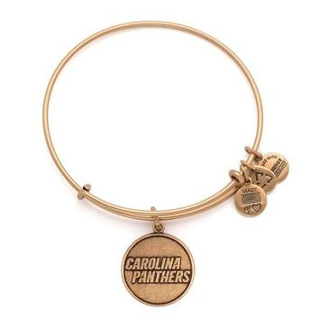 Alex and Ani Carolina Panthers Logo Charm Bangle - Rafaelian Gold F...