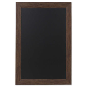 Kate and Laurel Beatrice Framed Magnetic Chalkboard in Walnut
