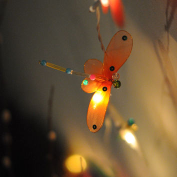 20 x dragonfly kid baby room decoration decor hanging lantern light string light elegant hand made bead