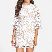 Women's Dress the Population Sequin Embroidered Lace Minidress,