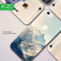 Landscape Scenery Case For Iphone 7 6 6S Plus Mountain Building Sea Deer Cat Nature View Hard Back Case cover For Iphone7 7plus