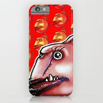 ugly fish cartoon style illustration iPhone & iPod Case by anticute
