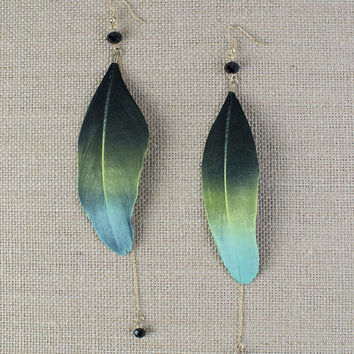 Ombre Feather Earrings