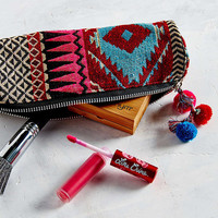 Geo Embroidered Zip Pouch - Urban Outfitters