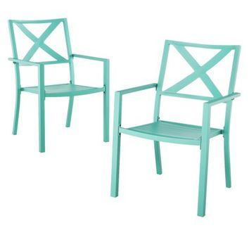 Threshold™ Afton 2-Piece Metal Patio Stacking Chair Set
