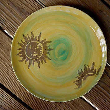 Sol pottery dinner plate sunrise sunshine or choose your colors