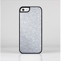 The Silver Sparkly Glitter Ultra Metallic Skin-Sert for the Apple iPhone 5c Skin-Sert Case