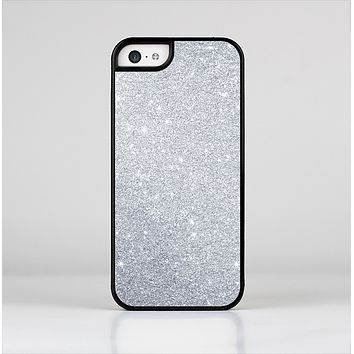 The Silver Sparkly Glitter Ultra Metallic Skin-Sert Case for the Apple iPhone 5c