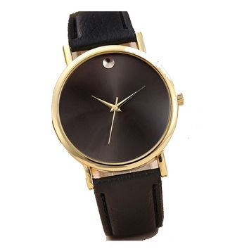 Retro PU Leather Band Analog Quartz Wrist Watch