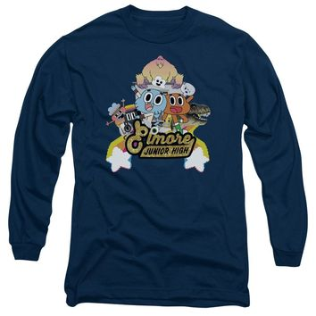 Amazing World Of Gumball - Elmore Junior High Long Sleeve Adult 18/1 Officially Licensed Shirt