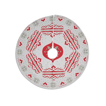 "Miranda Mol ""Snowjoy White"" Red Tree Skirt"