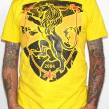 Rampant Lion T-Shirt - Yellow Roar