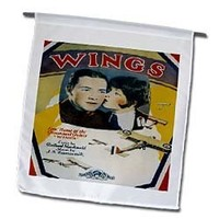 BLN Vintage Song Sheet Covers - Wings Love Theme of the Picture Wings With Couple and Airplanes - 12 x 18 inch Garden Flag (fl_154825_1)