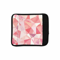 "Nic Squirrell ""Crumpled"" Pink,Geometric Luggage Handle Wrap"