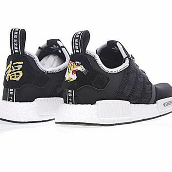Adidas Reflective shoelace Fashion Casual Tiger Running Sports Shoes For Women and Men Black
