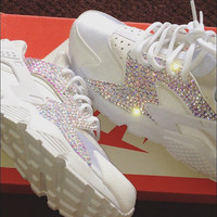 Swarovski Nike Huarache Body Crystal Bling Sneakers