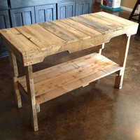 Distressed Reclaimed Wood Table Made Of Reclaimed Pallets