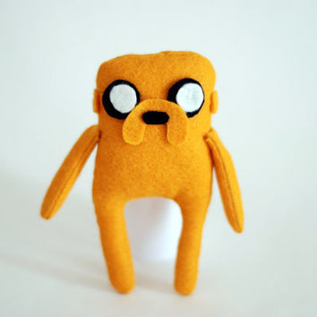 Adventure Time Jake the dog Felt Ooak .12cm.