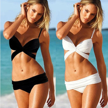 New Arrival Swimsuit Hot Beach Summer With Steel Wire Vintage White Sexy Swimwear Bikini [6047426561]