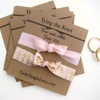 Wedding Favor, FOE Hair Ties, Engagement Party Favor, Bridesmaid Gift, Customized Wedding Favor, Small Wedding Favor, Bridal Favor