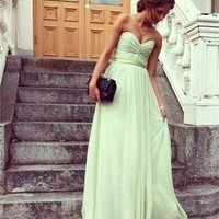 Mint Bridesmaid Dress - Long Bridesmaid Dress / Cheap Bridesmaid Dress / Long Prom Dress / Mint Prom Dress / Mint Evening Dress