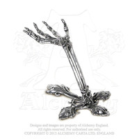 Alchemy Gothic Litternere Skeleton Hand Jewelry Holder
