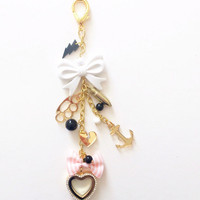 Electric girl Planner Charm or key chain