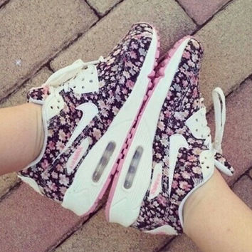 """Nike"" Women Floral Sneakers Sport Shoes"