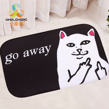 40x60cm/15.6x23.6'' Cool Cat Dog Mat Floor Carpet Letter Coral Fleece Rug Doormat For Hallway Non-slip 1PCS/Lot