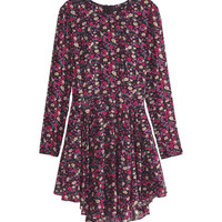 H&M - Circle Dress - Black/Floral - Ladies