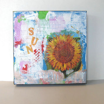 Sunflower Mixed Media Acrylic Painting on canvas