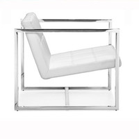 Lisa Armchair White Leather