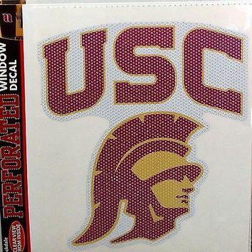 """USC Trojans SD 8"""" Perforated Window Film Decal University of Southern California"""