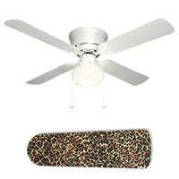Ceiling Fan with Lamp - Jungle Leopard Cheetah Animal Print