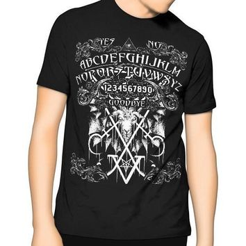 New! Ouija Board T Shirt Black Kill Occult Pentagram Gothic Sigil of Lucifer