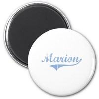 I Love Marion North Carolina 2 Inch Round Magnet