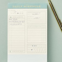 Ledger Daily Schedule Tear-Away Notepad