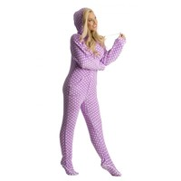Chenille Purple Polka Dots Onesuit Pajamas