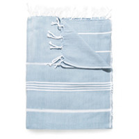 Turkish Cotton Towel (Blue & White Stripe)