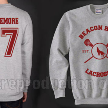 Whittemore 37 Beacon Hills Lacrosse Teen Wolf Crewneck Sweatshirt Heather Grey