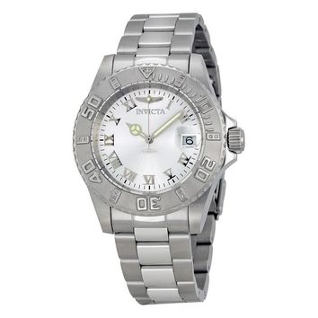Invicta Pro Diver Silver Dial Stainless Steel Mens Watch 12819