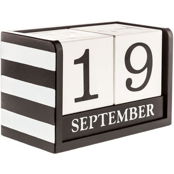 Black & White Wood Calendar Blocks | Hobby Lobby