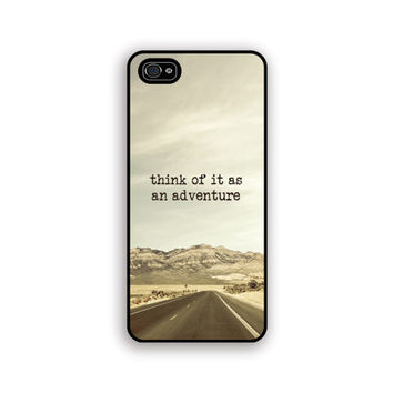 Adventure iPhone 5 case, mint, beige, desert, brown, mountains, rubber iphone5 gadget cover, southwest, boho fashion