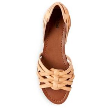 Gena Strappy Flat Huarache Sandals - Mossimo Supply Co.™ Cognac 9.5